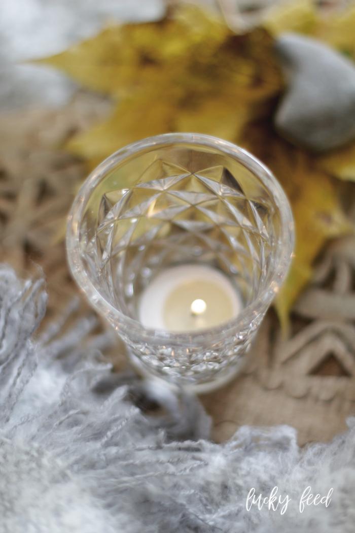 Tine K Home Facet Glas, Glück, Teelicht, Glück, Glücksgefühle