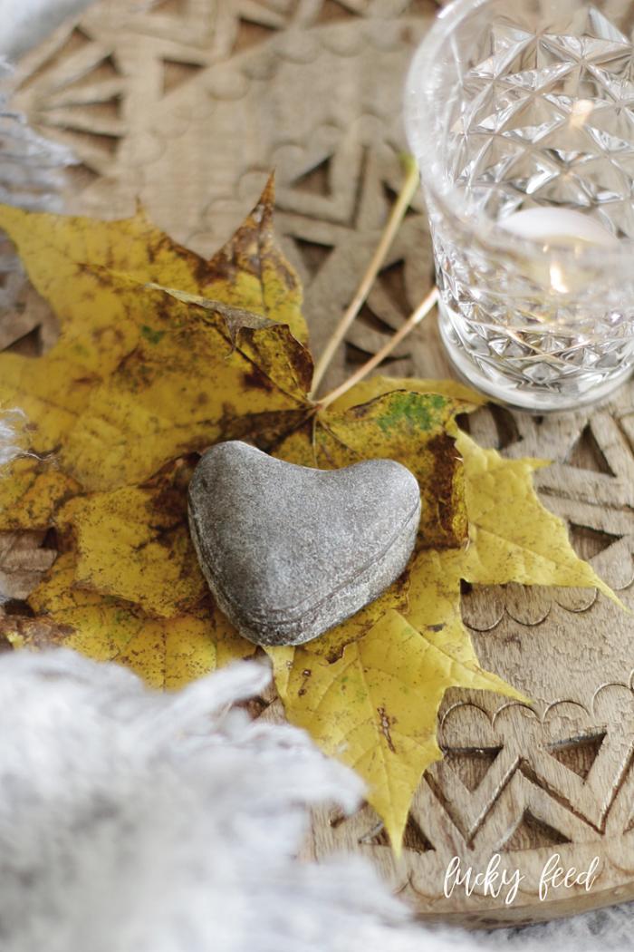 Stein Herz, Tine K Facet Glas, Glück, Glücksgefühle