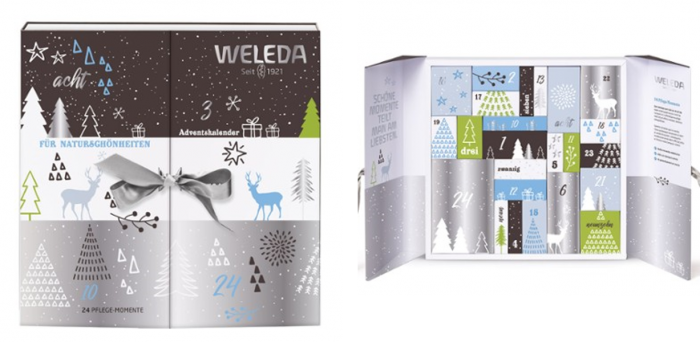 Adventskalender, Beauty Adventskalender, Adventskalender für Frauen, Naturkosmetik Adventskalender, Weleda Adventskalender