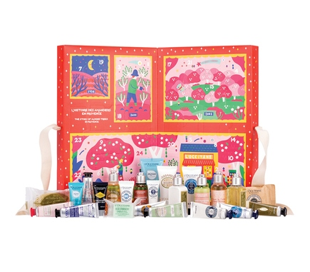 Adventskalender, Beauty Adventskalender, Adventskalender für Frauen, Naturkosmetik Adventskalender, L'Occitane Adventskalender
