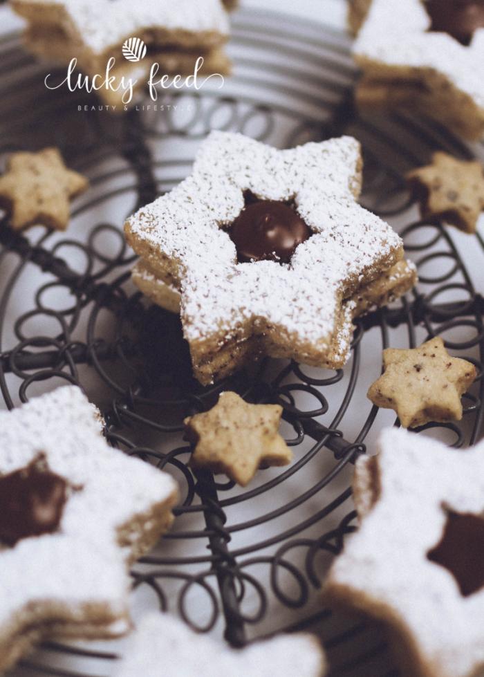Plätzchen, Plätzchen Rezept, Nuss Nougat Sterne, Nuss Nougat Plätzchen, Weihnachtsplätzchen, Nugatplätzchen