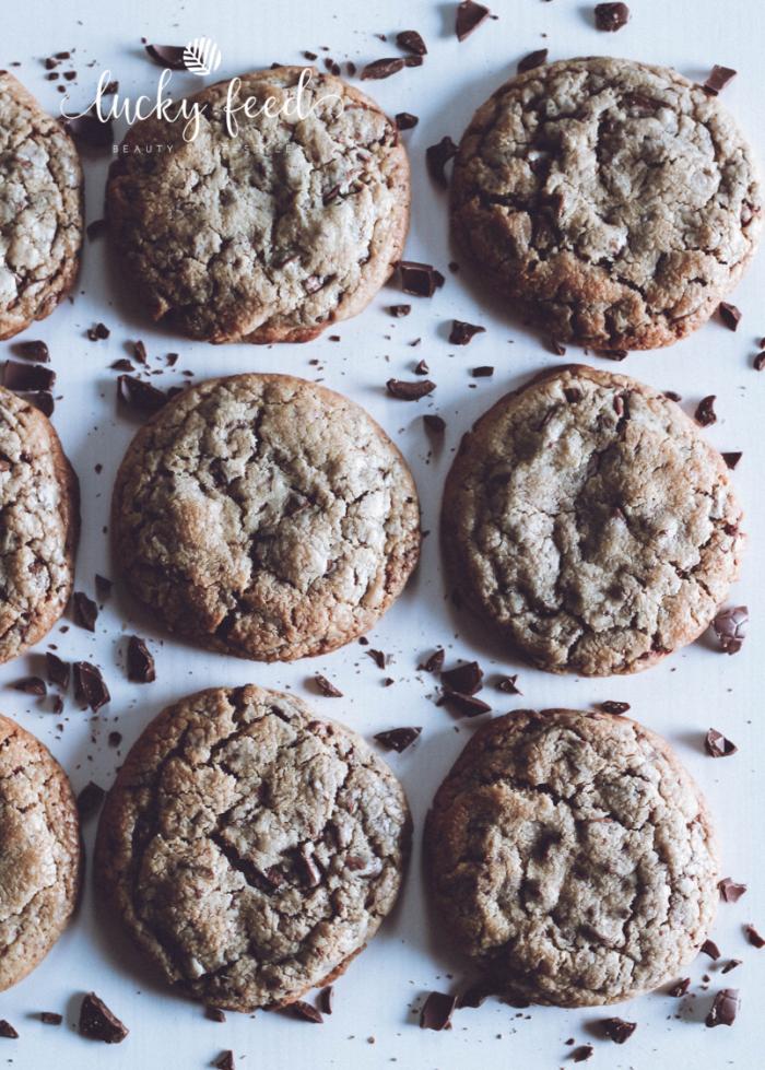 amerikanische Chocolate Chip Cookies, Chocolate Chip Cookies, Rezept Chocolate Chip Cookies, Rezept Cookies, Rezept Kekse, Rezept Kekse mit Schokotröpfchen, Kekse Schokolade Resteverwertung, Schokolade Resteverwertung, Schokoladenkekse