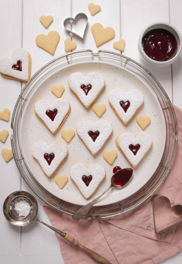 Herz Kekse – mit Liebe gebacken