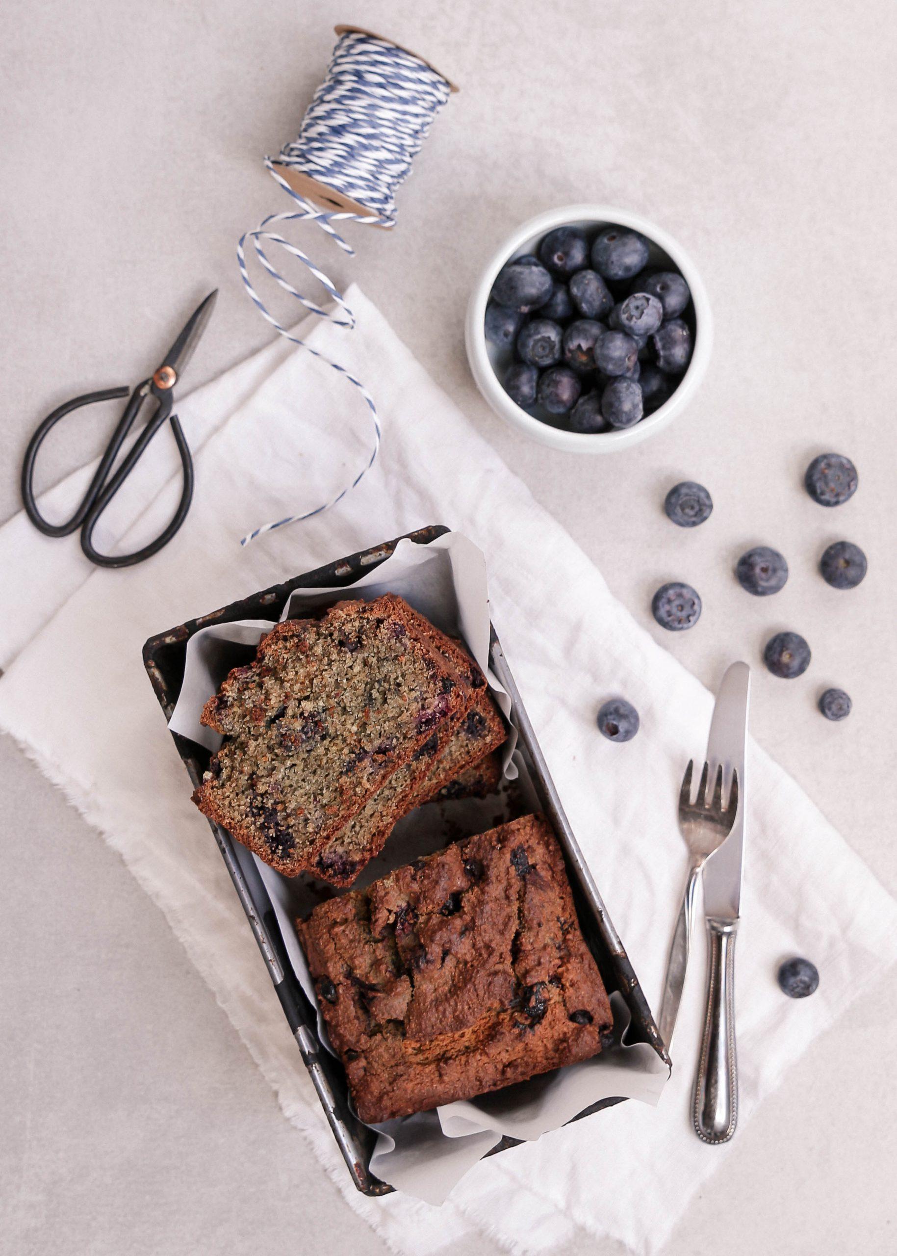 Zum Frühstück oder zwischendurch: Blueberry Bread ohne Zucker
