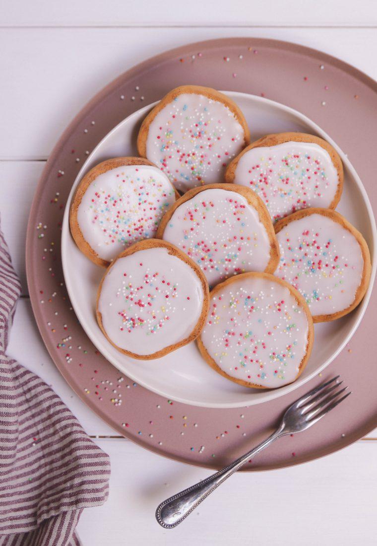 Rezept für Vanille-Amerikaner mit zitronigem Zuckerguss